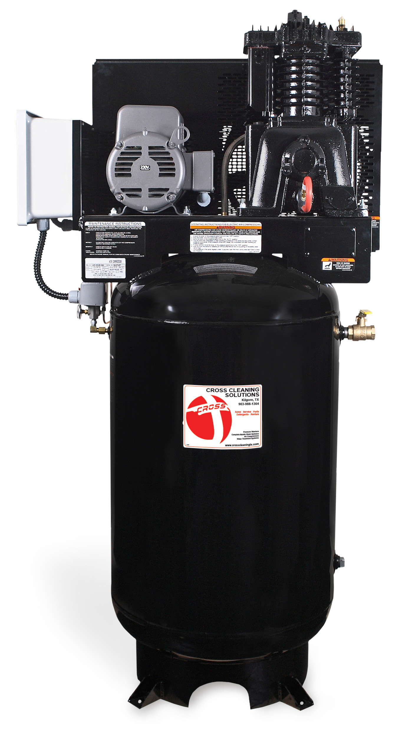 80 & 120-Gallon Two Stage Electric Air Compressor