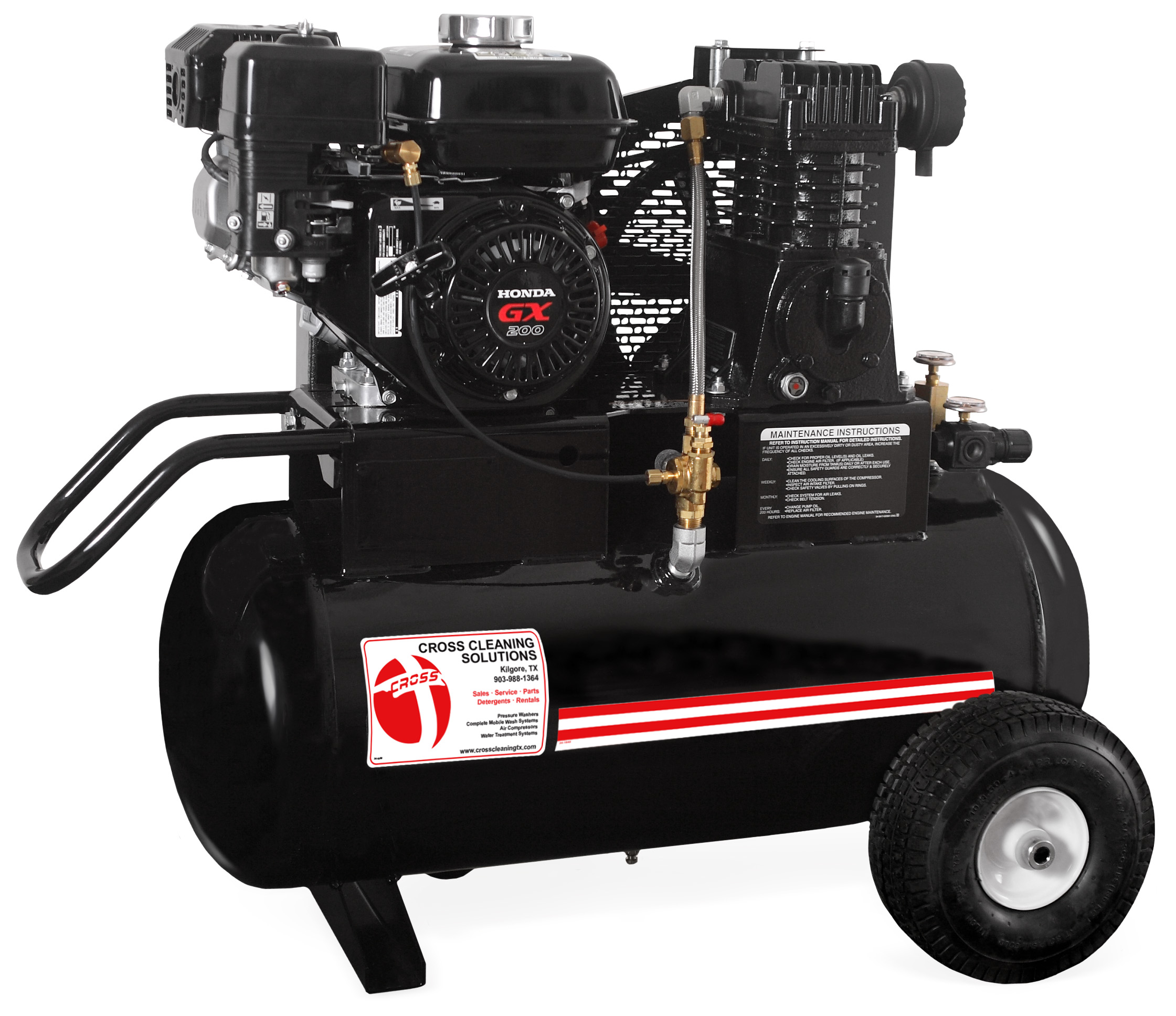 20 Gallon Single Stage Gasoline Air Compressor