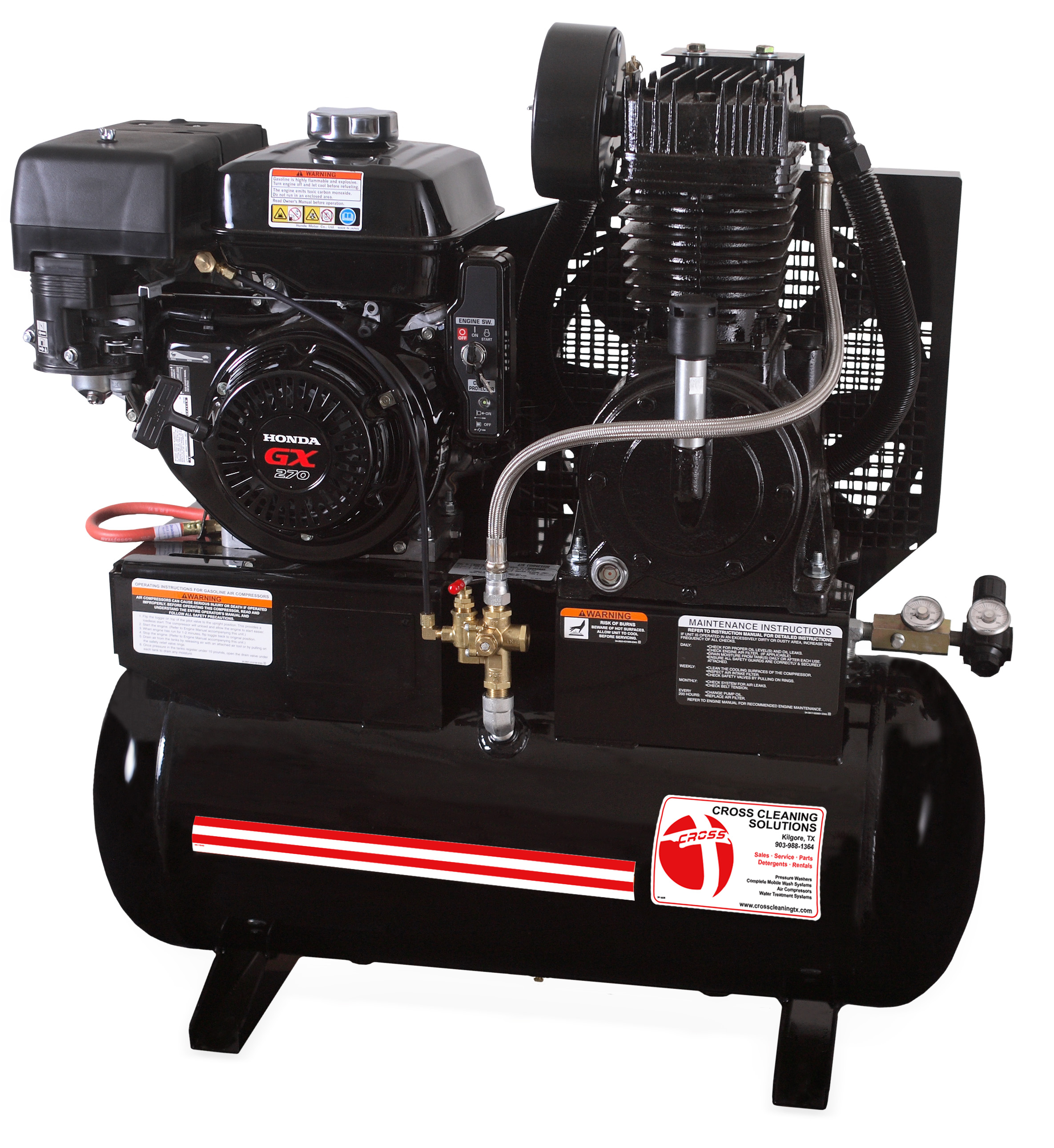 20 Gallon Two Stage Gasoline Air Compressor