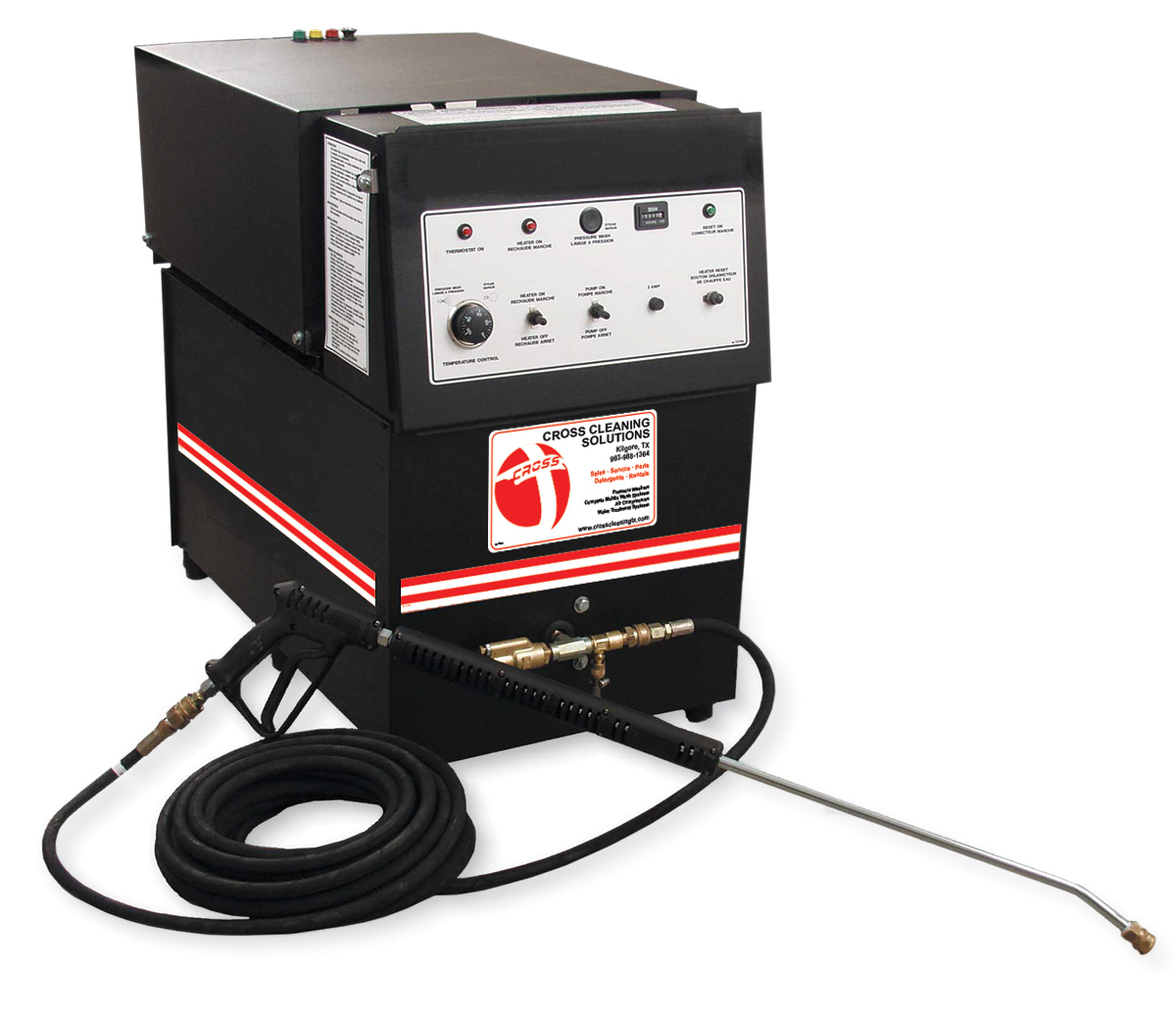 EH & HLP Series Electric Belt Drive Stationary Hot Water Pressure Washers