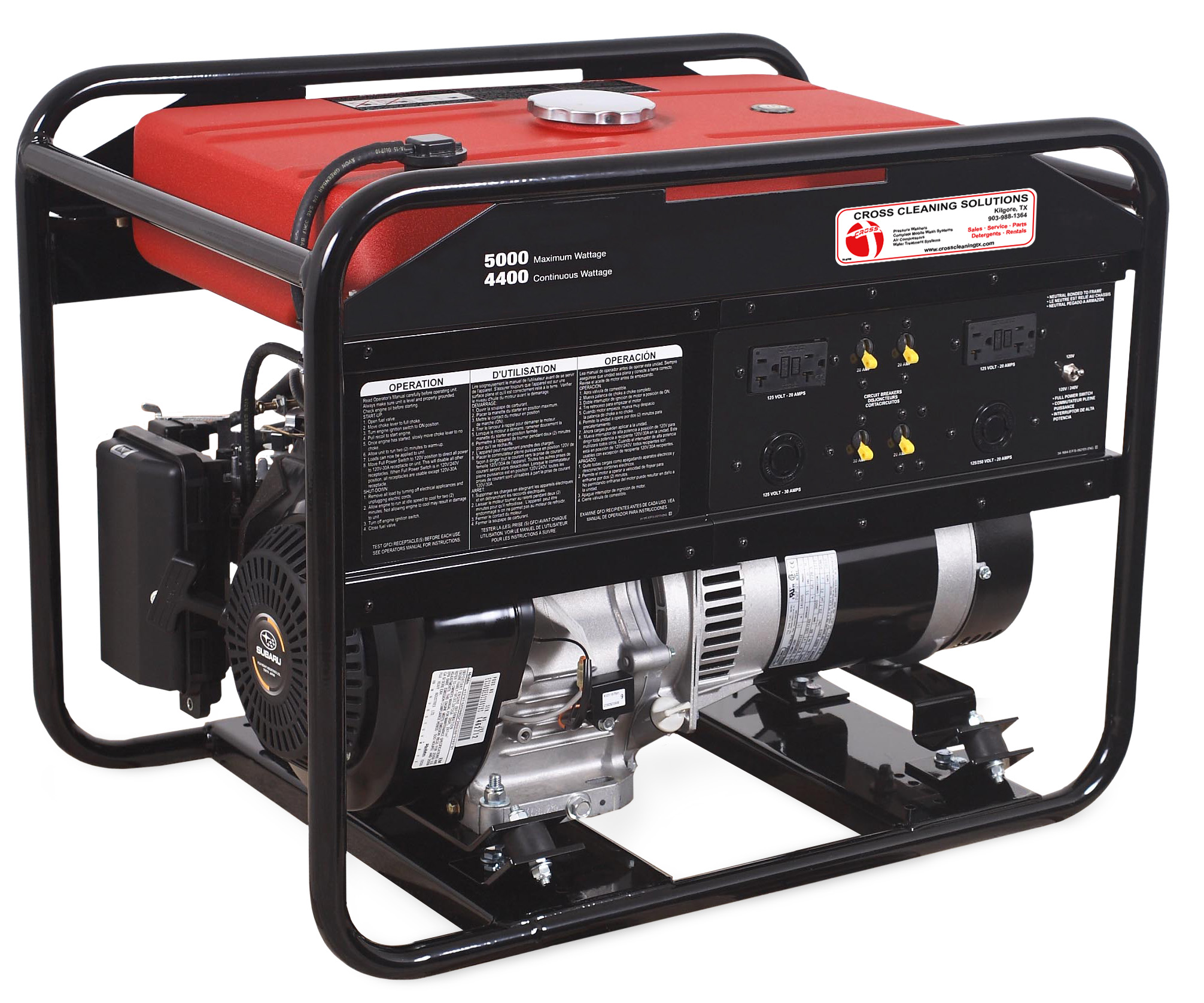 3000 & 5000-Watt Gasoline Portable Generator