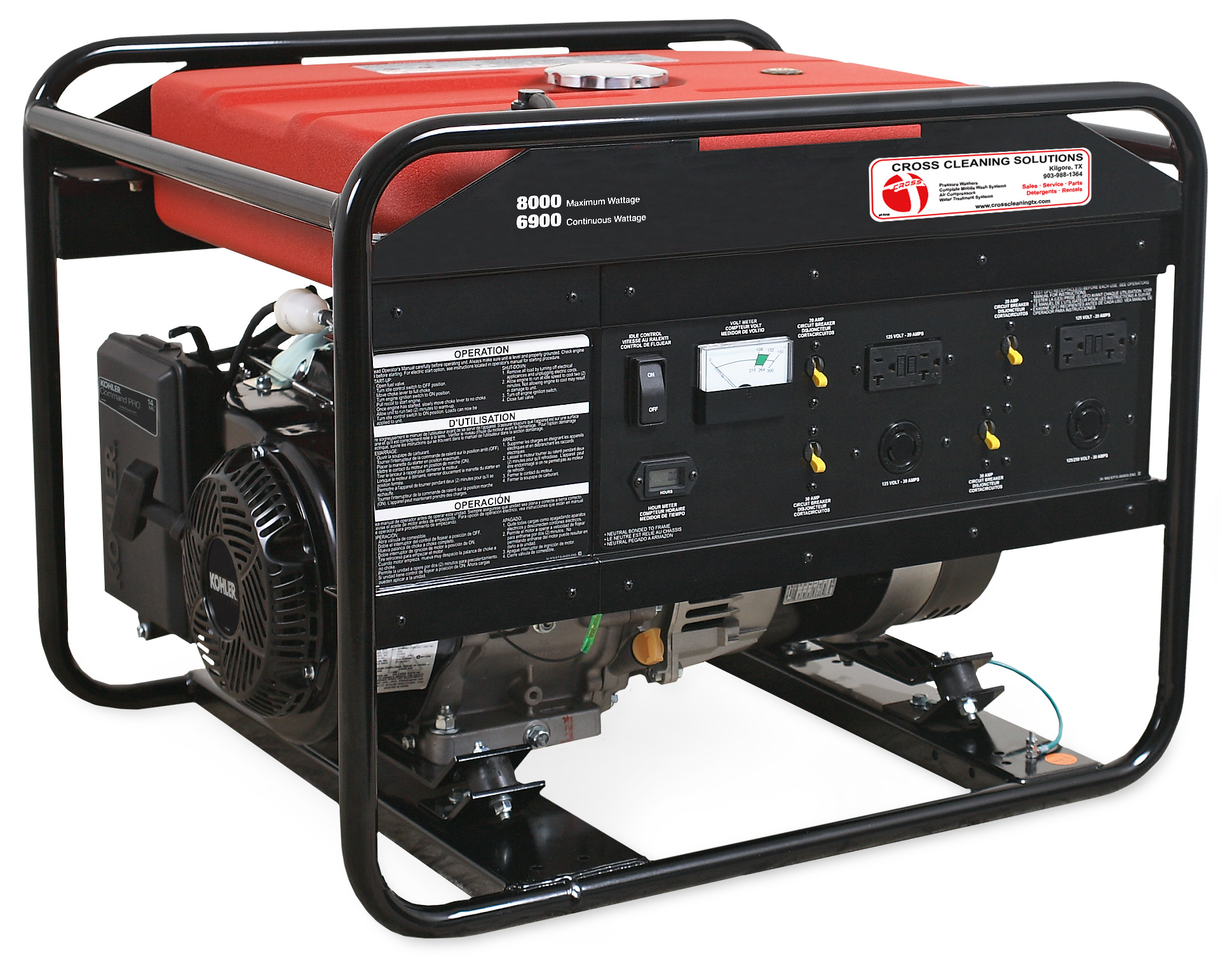 6000, 7500 & 8000-Watt Gasoline Portable Generator