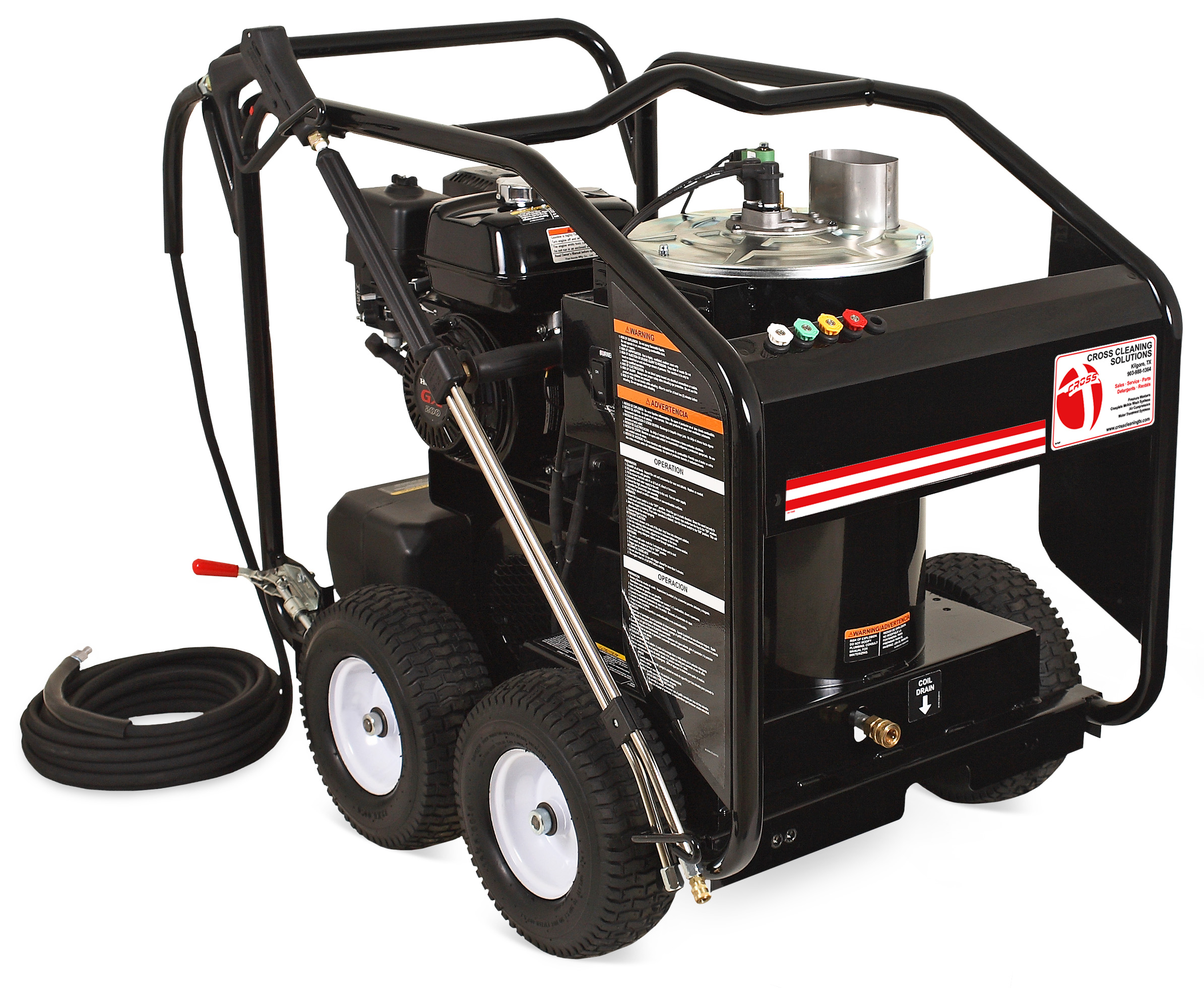 HSP Series Gasoline Direct Drive Hot Water Pressure Washers