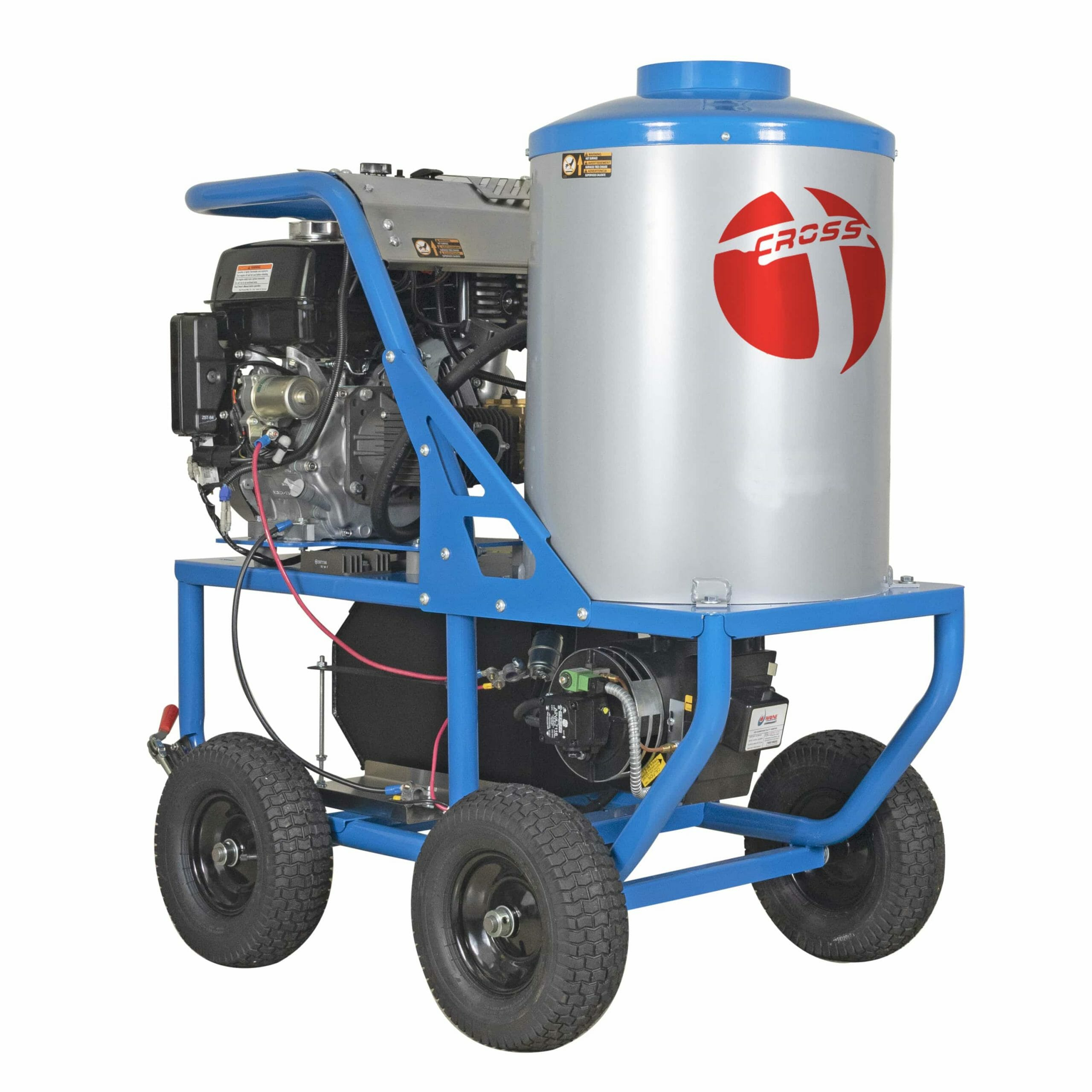 Vertical Mobile Electric or Gas Hot Water Pressure Washer